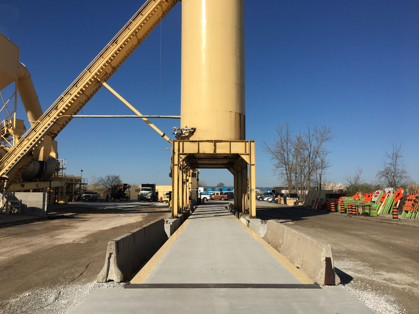 Mill-Am Corporation, Weigh Scale Installation in Windsor, Ontario. Project photo.