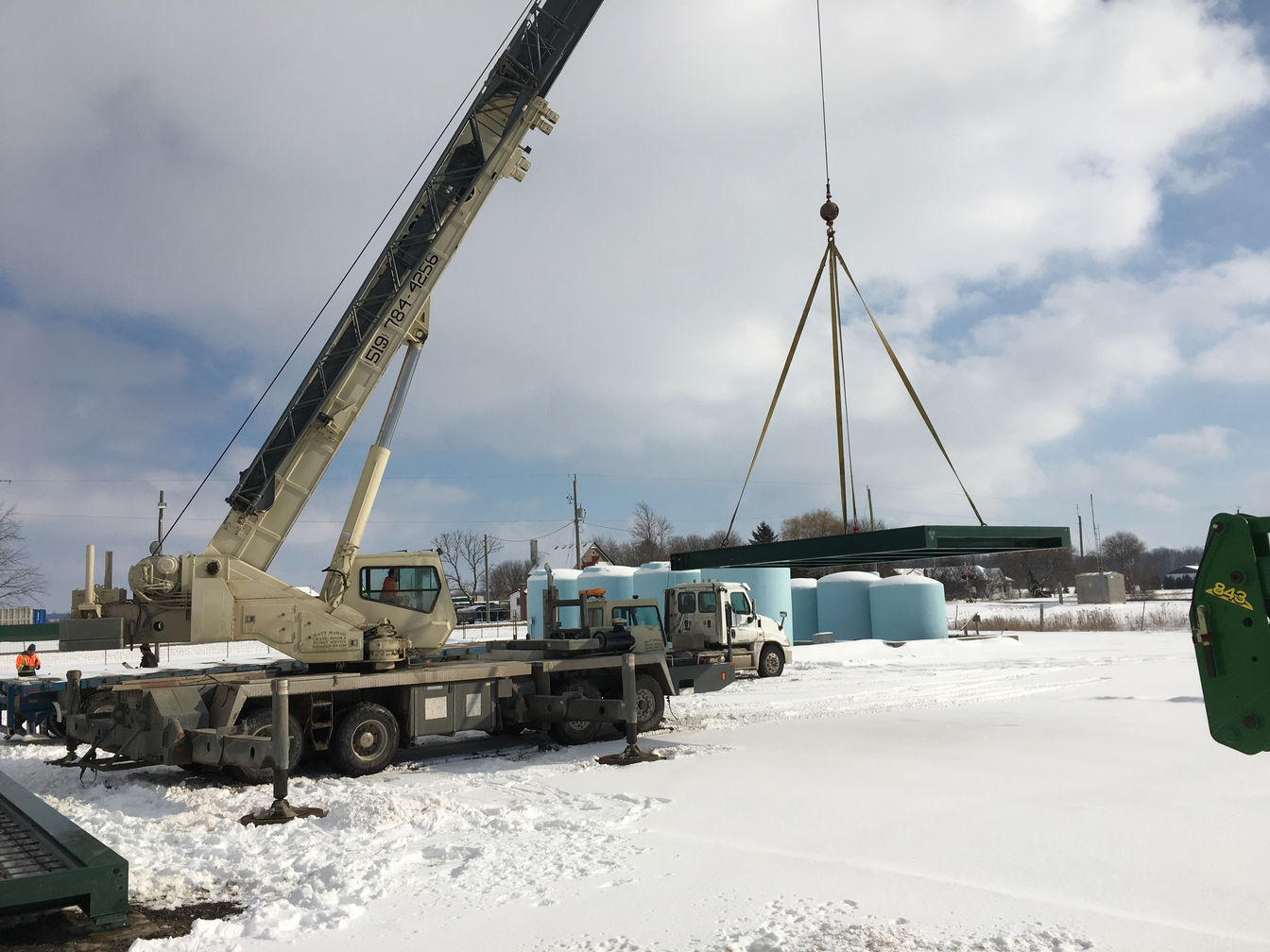 Weigh scale installation in Sarnia, Ontario. A project photo.