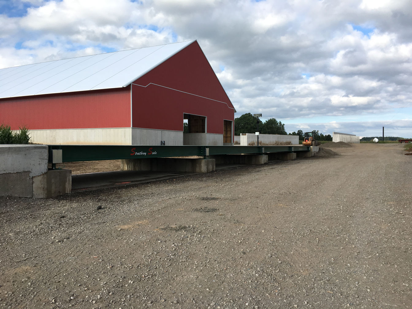 Wicketthorn Farms Weigh Scale Installation in London, Ontario. A project photo.