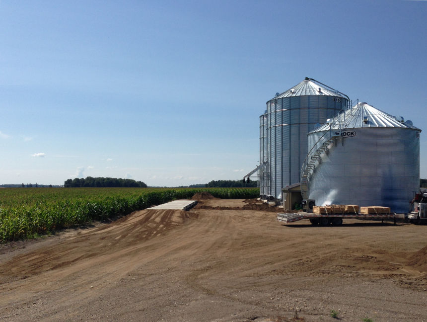 Weigh scale installation in Southwestern Ontario. Project photo.