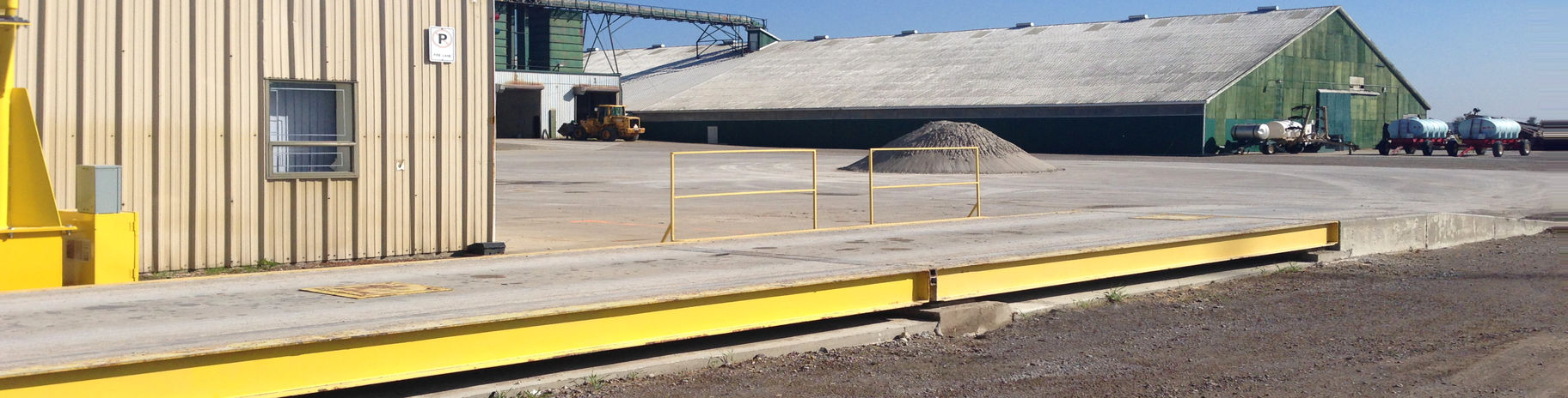 Rutherford, Ontario, truck weighing scale or weighbridge installation.