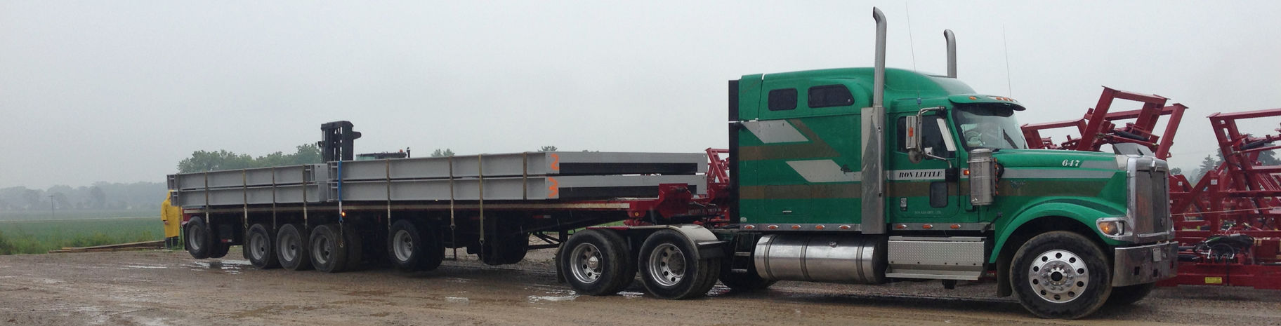 Salford, Ontario, weigh scale / truck scale delivery.